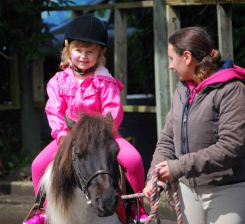 Pony rides are on offer at Beaulieu