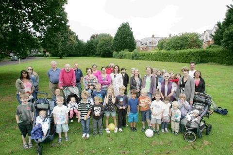 Several Abbotts Barton residents have opposed the plans throughout for fear of losing green spaces like this one in Dyson Drive