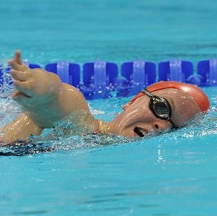 Ellie Simmonds takes to the pool on Saturday