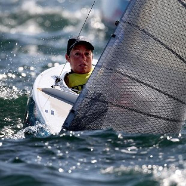 Helena Lucas is well placed to take sailing gold for Great Britain