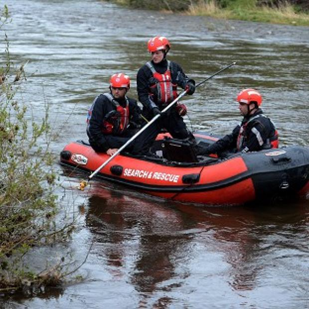 The River Wear in County Durham where police divers have found a body