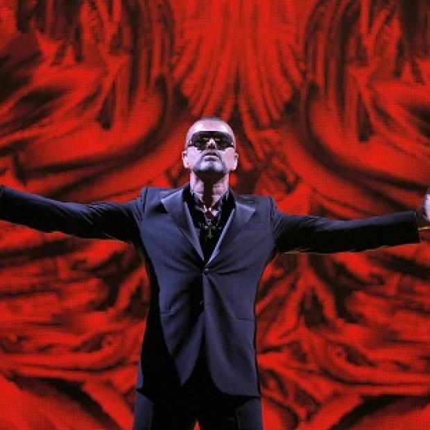 George Michael performed at a concert to raise money for Aids charity Sidaction