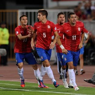 Serbia eased to a comprehensive victory over Wales
