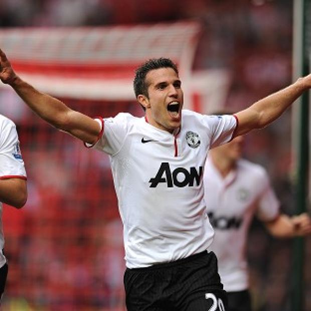 Manchester United's Robin van Persie was replaced as a precaution in Holland's match with Hungary