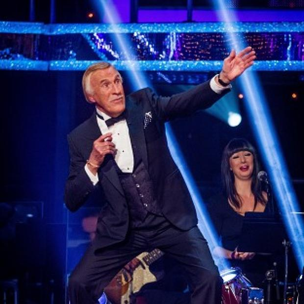 Sir Bruce Forsyth performed his own tribute to Usain Bolt