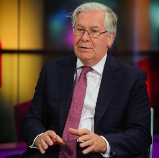 Sir Mervyn King ahead of his first-ever live television interview, at the studios of Channel 4 News