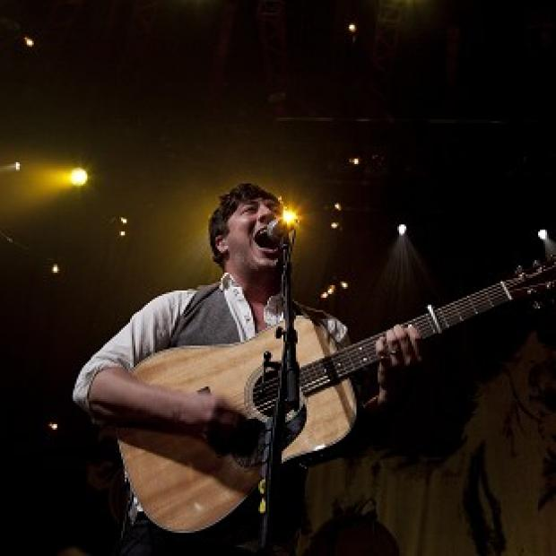 Marcus Mumford of Mumford And Sons performing at the iTunes Festival, at the Roundhouse, in north London