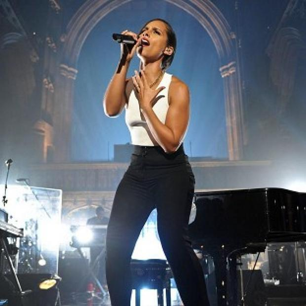 Alicia Keys performed to fans in Manchester