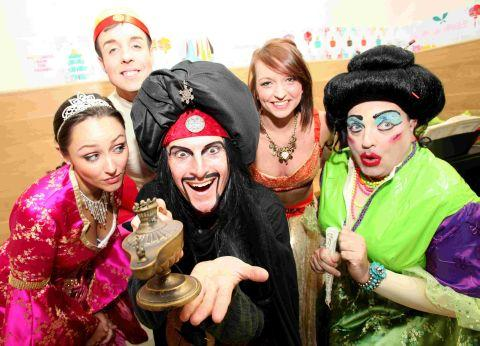 The cast of Aladdin, this year's pantomime at the Theatre Royal