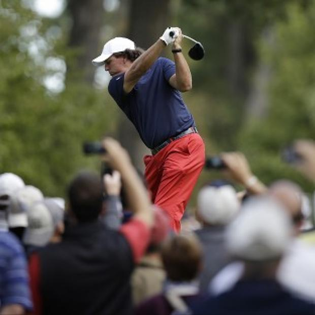 Phil Mickelson will become the most-capped American Ryder Cup player on Friday (AP)
