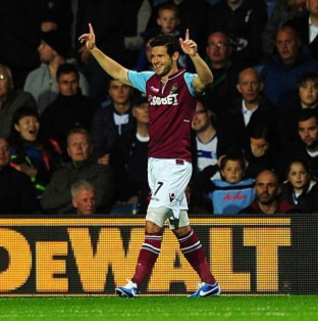 Hampshire Chronicle: Matt Jarvis scored in the third minute for West Ham