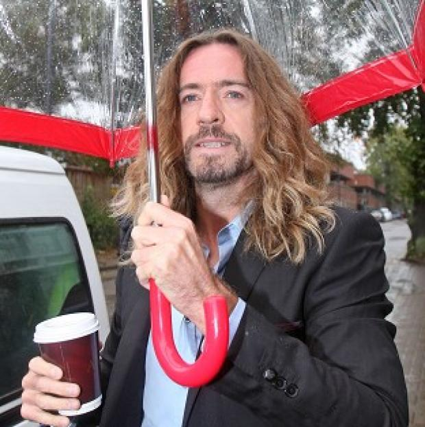 Justin Lee Collins has denied hitting former girlfriend Anna Larke at his trial for domestic and emotional abuse