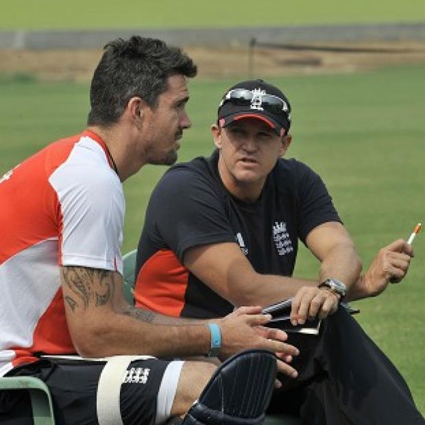 Andy Flower, right, hopes the Kevin Pietersen saga is nearing a positive end