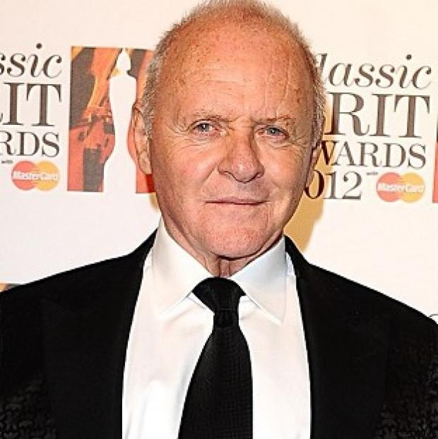 Sir Anthony Hopkins arrives at the 2012 Classic Brit Awards at the Royal Albert Hall, London