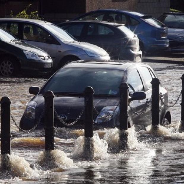 Weather forecasters warned of localised flooding, with more heavy rain set to sweep across parts of the UK