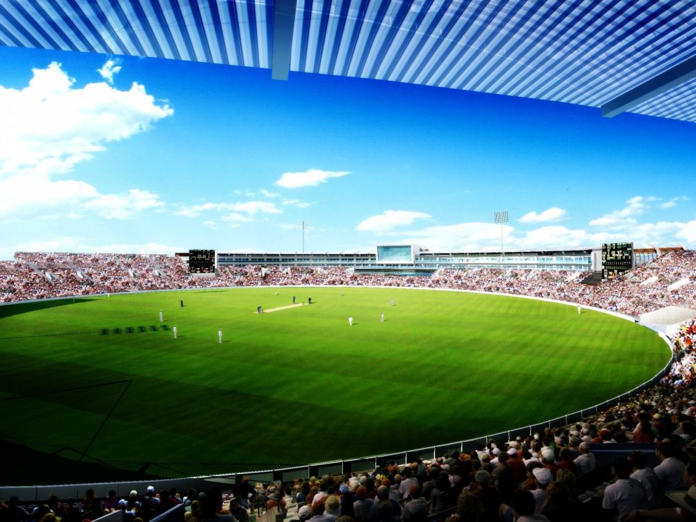 The completed redevelopment of the Ageas Bowl.