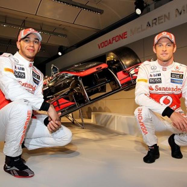Lewis Hamilton's, left, latest Twitter comments could put a strain on his relationship with team-mate Jenson Button, right