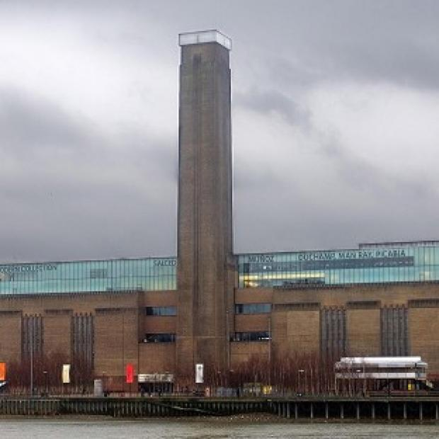 The Tate Modern in London where a Mark Rothko mural piece was daubed in black paint
