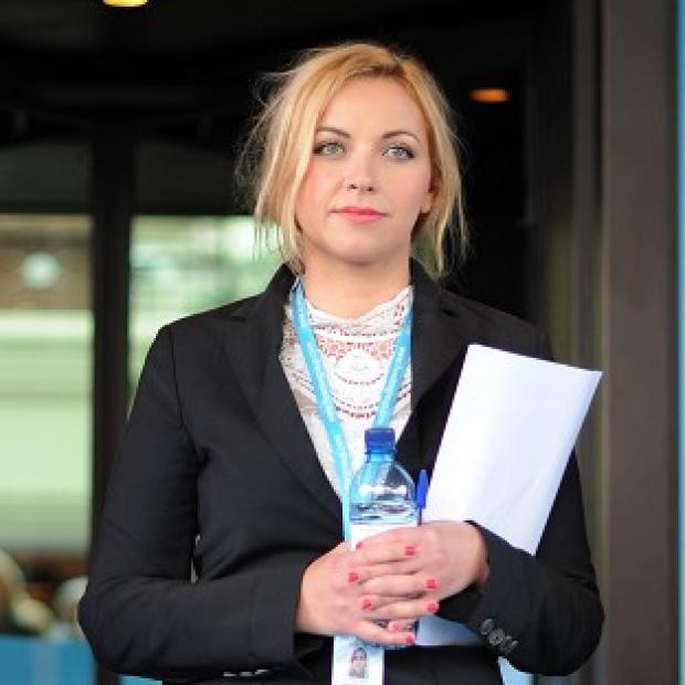 Singer Charlotte Church arrives at the Conservative Party conference in Birmingham