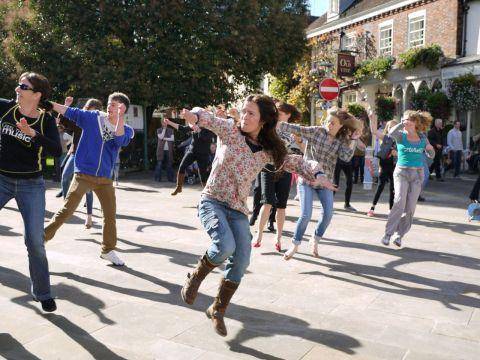 Zumba dancers surprised shoppers in The Square last weekend