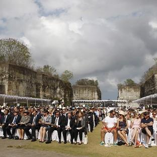 People attend a memorial service marking the 10th anniversary of the 2002 Bali bombings in Jimbaran, Bali (AP)