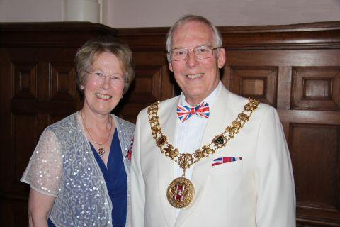 Mayor and Mayoress Frank and Anne Pearson at the Mayor's Ball