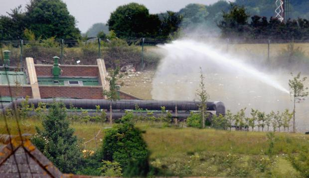 The scene of the explosion in 2006