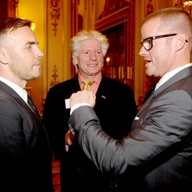 Gary Barlow, Heston Blumenthal and Bruno Peek attend as the Queen and Duke of Edinburgh host a reception