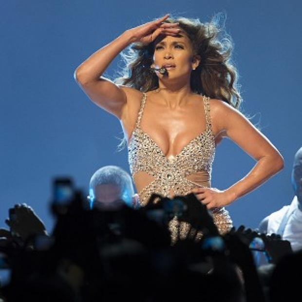 Jennifer Lopez had a wardrobe malfunction during a concert in Italy