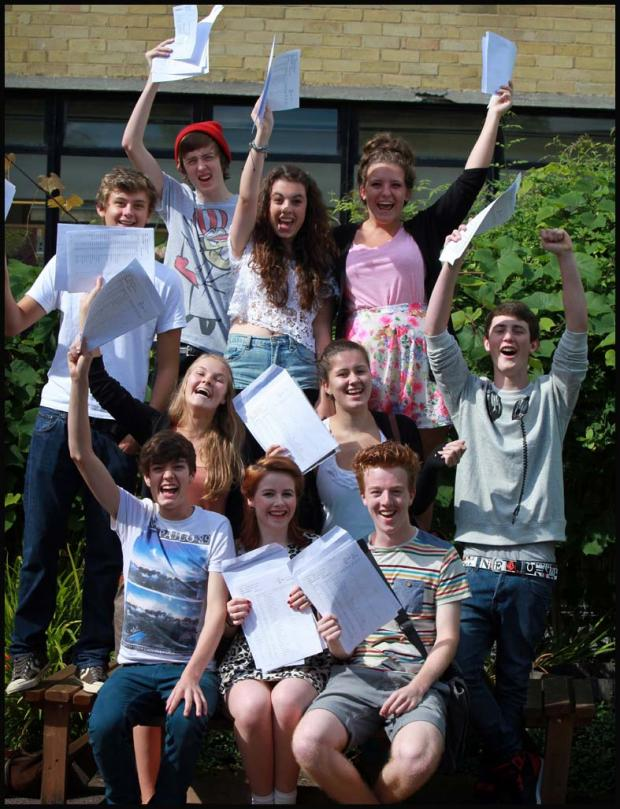 Pupils from Bitterne Park School celebrate their GCSE results
