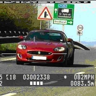Masterchef presenter Gregg Wallace was photographed doing 82mph in a 50mph zone (Kent and Medway Safety Camera/PA)