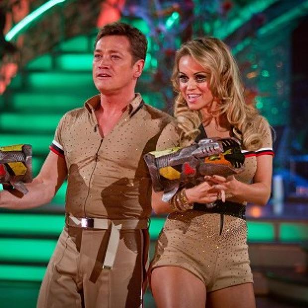 Sid Owen and Ola Jordan danced to the theme from Ghostbusters