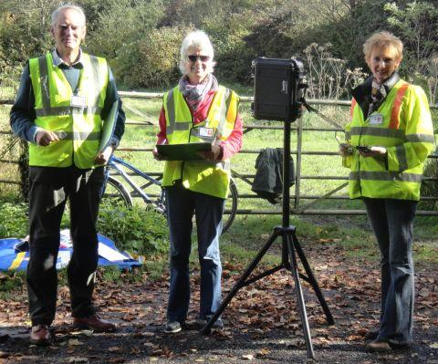(L-r) Volunteers Chris Pope, Trish Mardon and Penny Smith of Twyford Community SpeedWatch