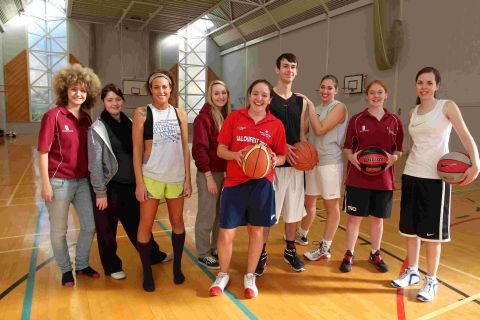 The Winchester students have so far raised more than £500 after a 24-hour basketball game at Kings' School