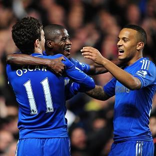 Ramires, centre, helped Chelsea through to the next round where they face Leeds