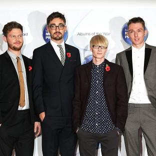 Joe Newman, Gus Unger-Hamilton, Gwil Sainsbury and Thom Green of Alt-J arriving for the Mercury Prize