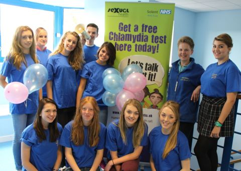 Peter Symonds health & social care students helped out at NHS health screenings