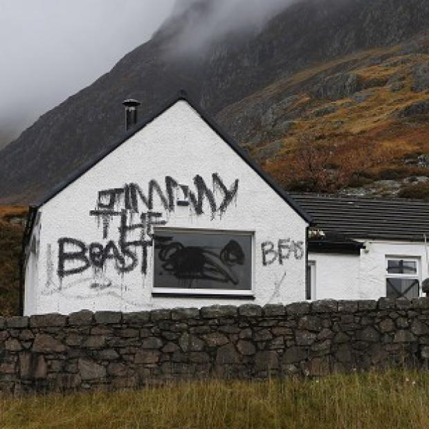 Jimmy Savile's cottage Allt Na Reigh, in Glencoe, has become a target for vandals