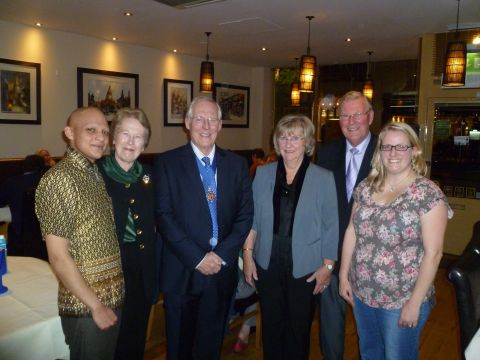 (L-r) Shah Kayum of the Bangkok Brasserie, Mayoress Anne Pearson, Mayor Frank Pearson, volunteers Dorothy Trinder and Jo