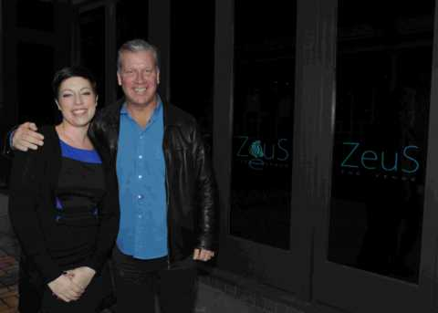 Zeus boss Stuart Harris and manager Kerrie Hughes