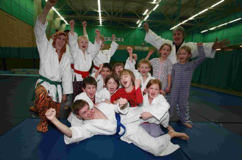 River Park Judo Club trained in their pyjamas to raise money for Children in Need