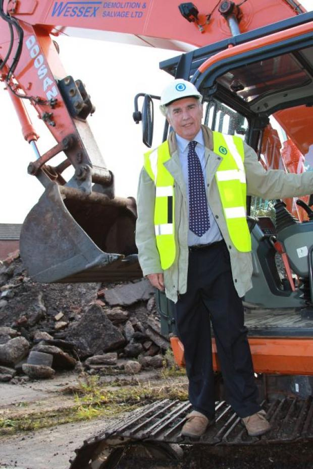 Council leader Keith Wood at the site