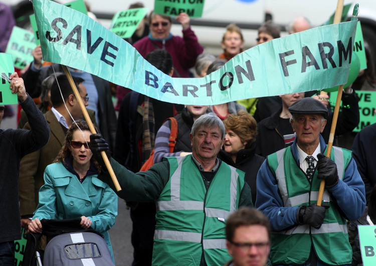 Outgoing campaign leader attacks Winchester City Council for 'capitulation' over Barton Farm