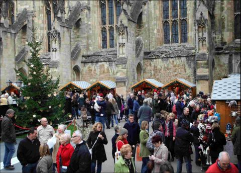 Winchester's Christmas Market has been running at the cathedral for six years