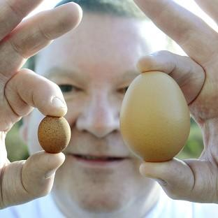 Paul Rae reckons he has found the world's smallest hen's egg