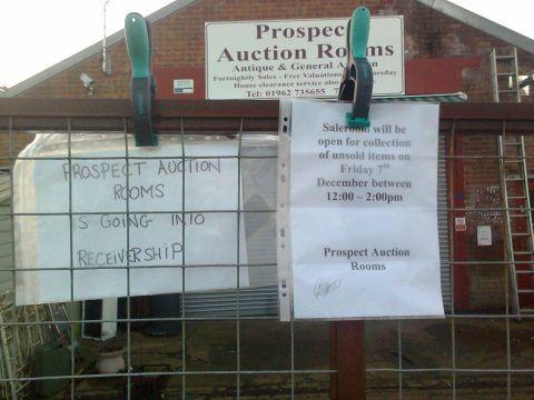 The notices that went up yesterday at Prospect