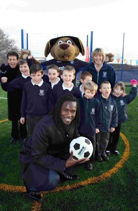 Linvoy was on hand to officially open the new £28,000 facility.