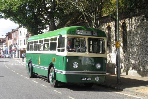 The newly-restored Leyland Olympic bus