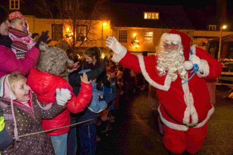 Father Christmas arrives in Alresford for the annual Christmas celebrations