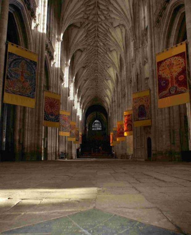 The nave in 2006 when chairs were removed for the first time in 100 years
